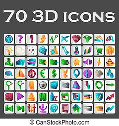 A set of colored icons