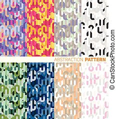 A set of colorful abstract pattern