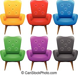 A Set of Colourful Chair