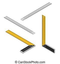 A set of construction rulers