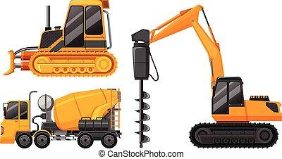 A Set of Construction Truck