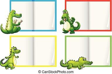 A Set of Crocodile Template