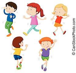 A Set of Dancing Kids