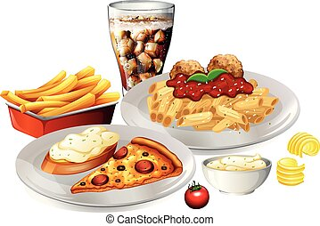 A Set of Delicious Food