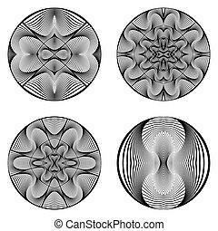 A set of design circle elements
