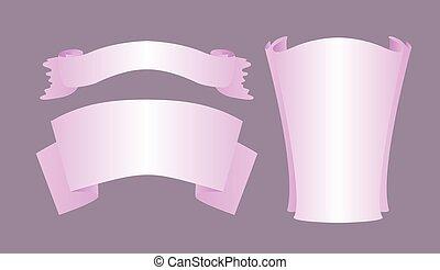 three purple ribbon
