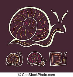 a set of different Abstract snails for your design or company logo. Vector