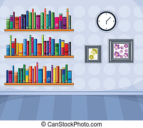 A set of different books