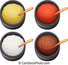 A Set of Different Sauce