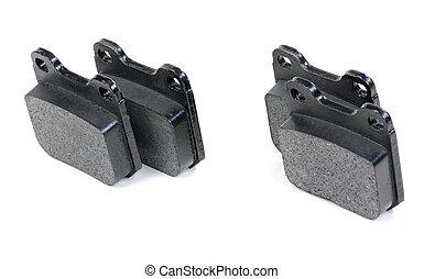 A Set of Disc Brake Pads Isolated