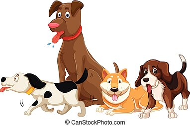 A set of dog breed