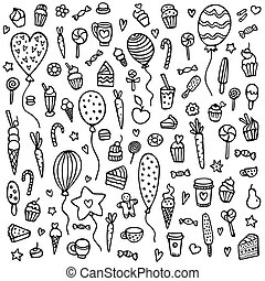 Cute hand-drawn vector background.