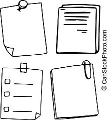 A Set of Doodle Note