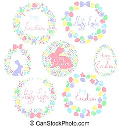 A set of Easter wreaths