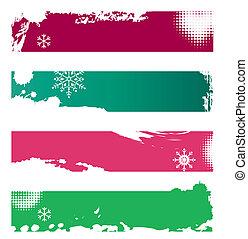 Christmas grunge banners