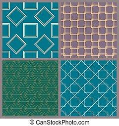 A set of geometric patterns