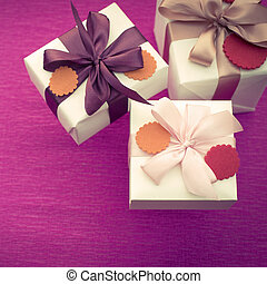 A set of gifts Packed in beautiful boxes.