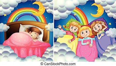 A Set of Girl Bedtime