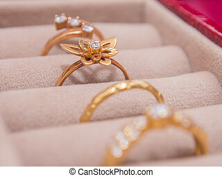 A Set of Gold Rings