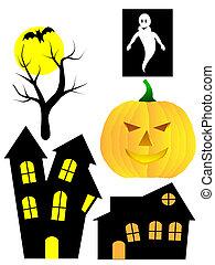 A set of Halloween vector elements
