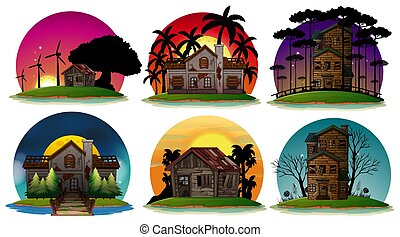 A Set of Haunted House