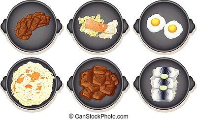 A Set of Healthy Food