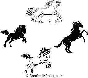 a set of horses