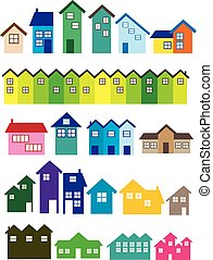House illustrations - A set of House illustrations. Real ...