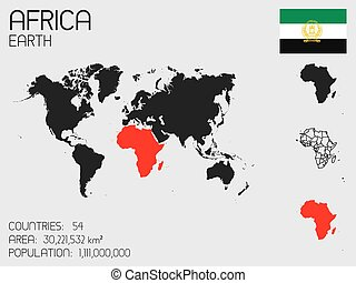 Set of Infographic Elements for the Country of Africa