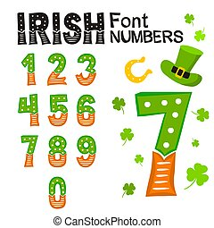 A set of irish numbers for Saint Patrick's Day.