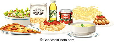 A Set of Italian Cuisine