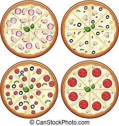 A Set of Italian Pizza