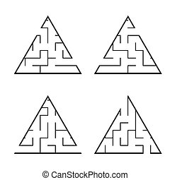 A set of mazes. Game for kids. Puzzle for children....