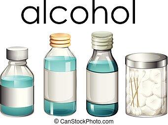 A Set of Medical Alcohol