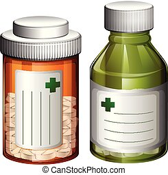 A Set of Medicine Bottle