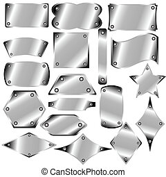 A set of metal plates