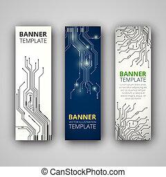 A set of modern vector banners