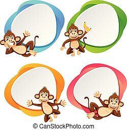 A set of monkey banner
