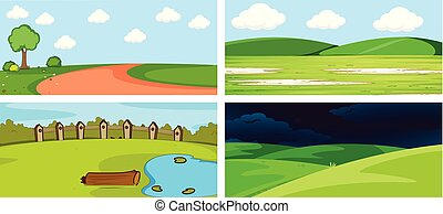 A set of nature background