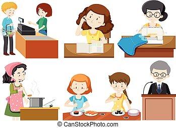 A set of occupations