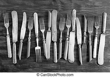 A set of old cutlery