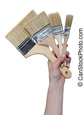 A set of paintbrushes