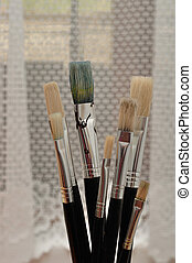 A set of paintbrushes