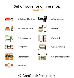 a set of pictures of different furniture sections Online Store