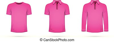 a set of pink t-shirts
