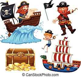 A Set of Pirate Vector