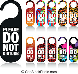 a set of please do not disturb signs