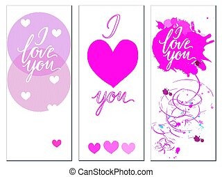 A set of postcards with the inscription I love you