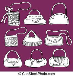 A set of  purses.