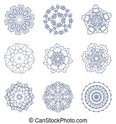 A set of radial pattern.